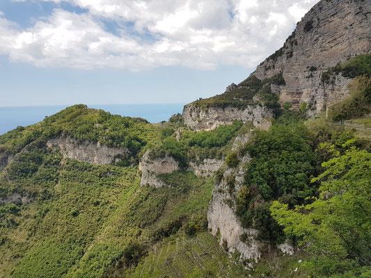 Sentiero degli Dei, kurz nach Beginn der Wanderung