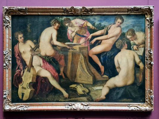 Jacopo Tintoretto: Musizierende Frauen, Öl auf Leinwand, nach 1566