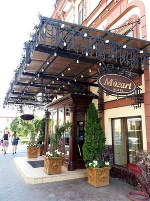Hotel Mozart, Eingang
