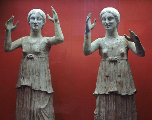 Trauernde Frauen, Ton, Süditalien, 3. Jh. v. Chr.