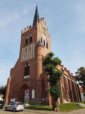 Usedom, Stadtkirche St. Marien, Ende des 15. Jahrhunderts, Westseite