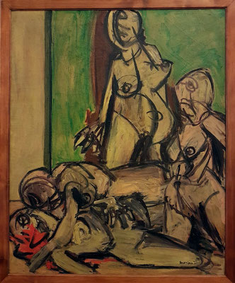 Ennio Morlotti (1910-1992): Le donne di Varsavia (Die Frauen aus Warschau), 1946, Öl auf Leinwand