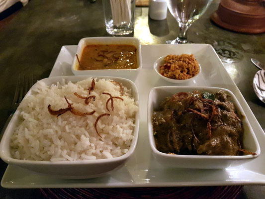 Mein Dinner im Restaurant Sooriya Village: Chicken Korma