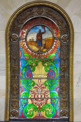 Novoslobodskaja, mit überaus prunkvoller Gestaltung
