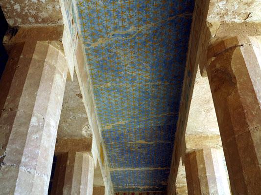 Decke der Anubis-Kapelle mit Sternenhimmel