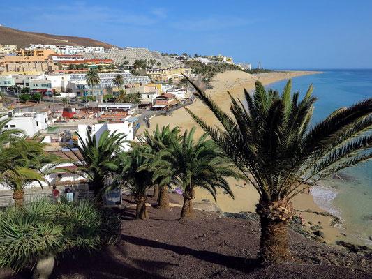 Morro Jable, Blick vom Mirador unterhalb der Parroquia de Ntra. Sra. del Carmen nach N