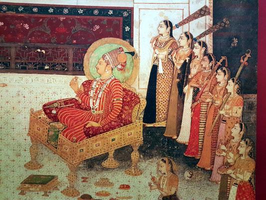 Maharadscha mit seinen Haremsfrauen