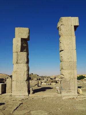 Elephantine, Südtor von Elephantine an der Grenze von Alt-Ägypten zu Alt-Nubien (erster Katarakt des Nils heißt Saluga und Ghazal)