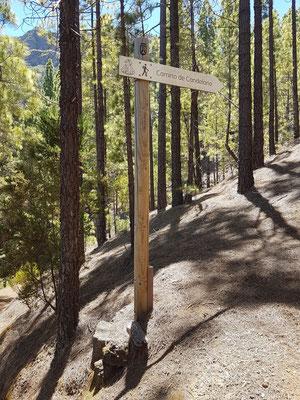 An dieser Stelle habe ich den Organos-Höhenweg nach links genommen.