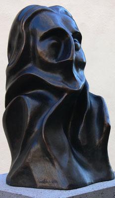 Bronzeskulptur des Christoph Kolumbus, Geschenk von König Juan Carlos und Königin Sofía