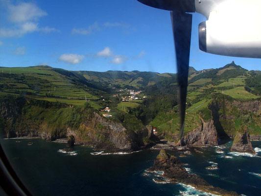 Anflug auf Flores, Blick auf Fazenda de Santa Cruz (Foto: Bernd.Th)