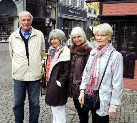 Klaus, Almut, Brigitte und Helga in Aachen, 28.04.2013