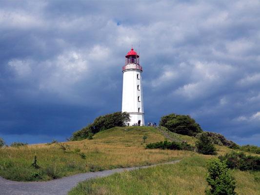 Leuchtturm Dornbusch auf Hiddensee, architektonische Höhe 28 Meter, eröffnet 1888