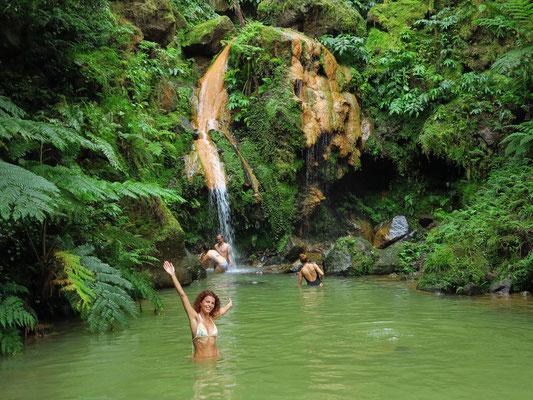 Caldeira Velha, Wasserfall