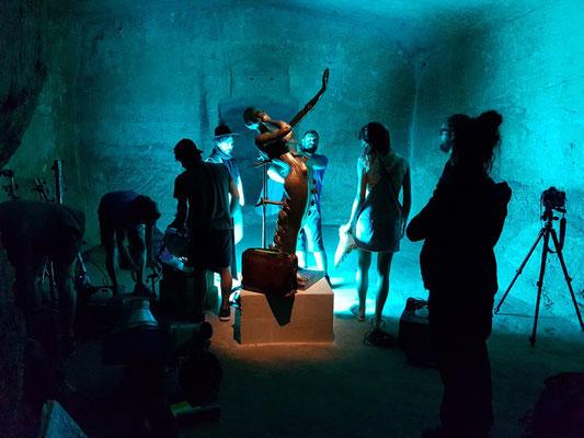 Filmaufnahmen der Dalí-Ausstellung
