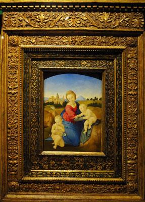Raffael (Raffaello Santi): Jungfrau mit Kind und dem jungen Johannes dem Täufer (Esterházy Madonna), um 1508