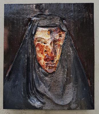 Johan Creten, La Vierge d'Aleppo, 2013-2015