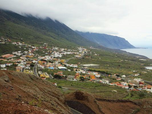 Blick von Joapira auf Frontera und den westlichen Teil von El Golfo