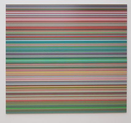 Gerhard Richter (*1932): Strip (927-9), 2012, Digitaldruck auf Papier zwischen Alu-Dibond und Perspex (Diasec)