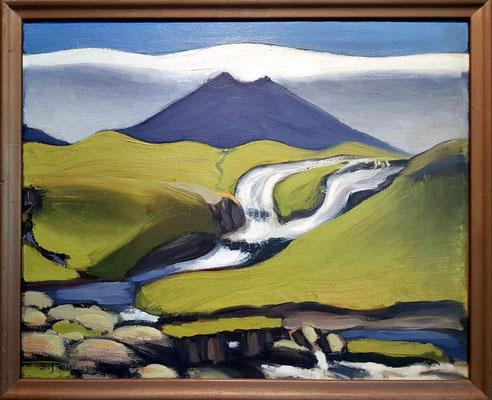 Samuel Joensen-Mikines (1906-79, FO): Landscape. Summer's Day. Faroe Islands. 1938