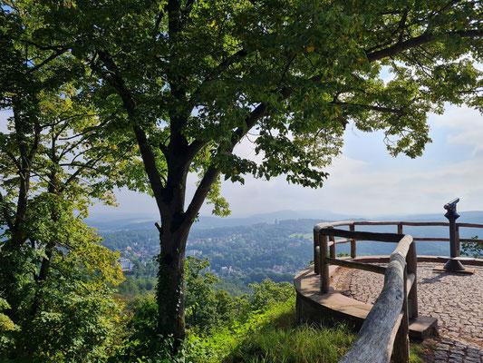 Aussichtsplattform, Blick in Richtung Eisenach