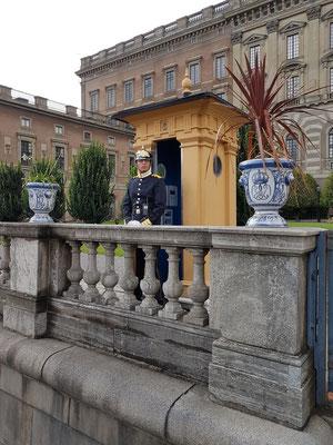 Wache am Stockholmer Schloss