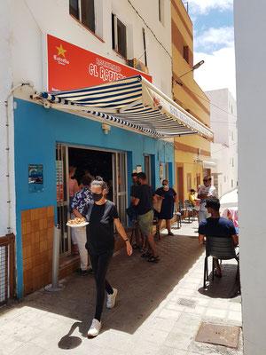 Fischrestaurant El Refugio, innen und außen
