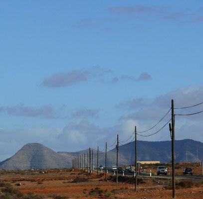 La Antigua, Blick von der Molino de Antigua nach N