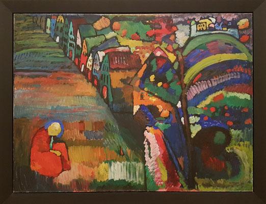 Wassily Kandinsky: Bild mit Häusern, Öl auf Leinwand, 1909