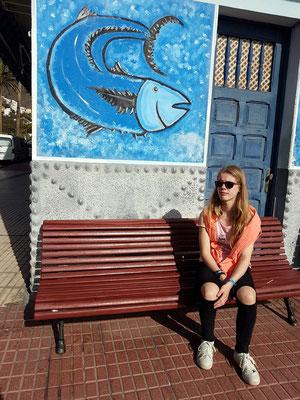 Vor der Bar María im Valle Gran Rey