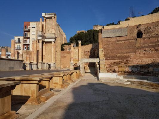 Teatro Romano, Detail der Bühne
