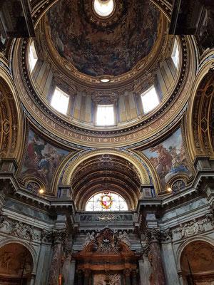 Sant'Agnese in Agone, Piazza Navona (1644-1655), Blick in die Kuppel