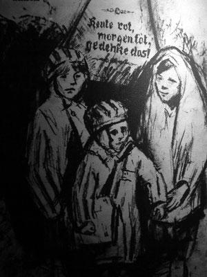 """Zinovij Tolkatschow (1903-1977), """"Blumen von Auschwitz"""", Sammlung von Zeichnungen, die der Künstler (damals sowjetischer Soldat) Anfang 1945  im KL Auschwitz anfertigte"""