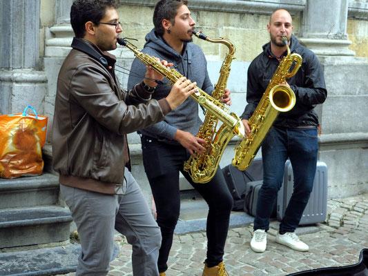 Musik in den Straßen von Brügge