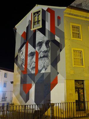 Fassadenkunst an der R. Ferreira Borges