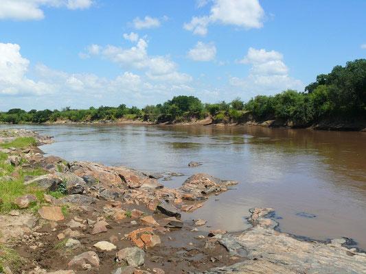 Der Mara Fluss entspringt in Kenia unweit der Stadt Nakuru, fließt in Tansania durch den Norden der Serengeti und mündet in den Victoriasee.