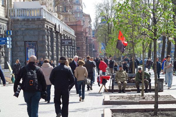 Chreschtschatyk, die Flaniermeile Kiews