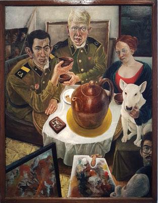 Thomas Ziegler (1947-2014): Die große Teekanne, Öl auf Hartfaser, 1985 (Bestand Kunstarchiv Beeskow)