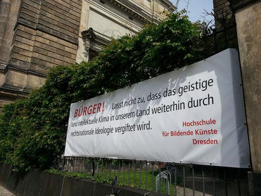 Politisches Engagement der Hochschule für Bildende Künste Dresden