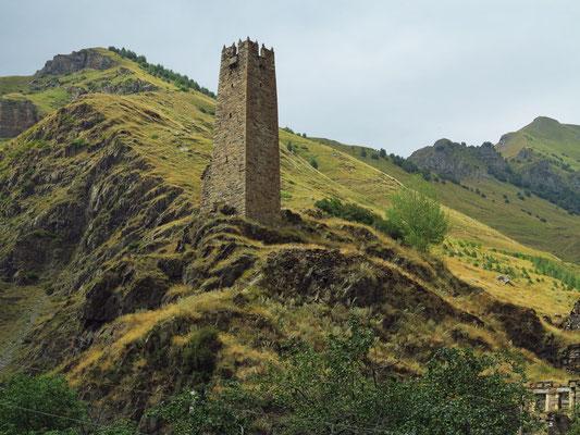 Wachtturm im Terek-Tal, Hoher Kaukasus