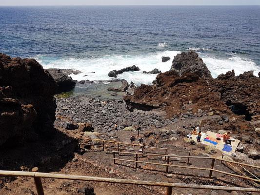 Kleines Naturschwimmbecken Charco Azul