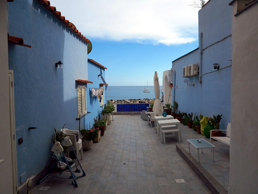 Unsere Terrasse der Ferienwohnungen Sirene e Kallos