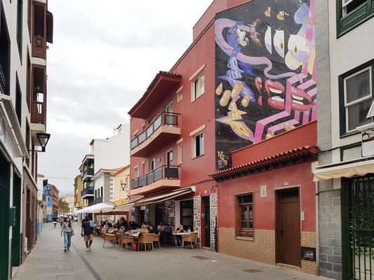 Puerto de la Cruz, Calle Mequinez mit Restaurante El Bajío