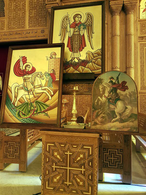 Koptisch Orthodoxe Kathedrale des Erzengels Michael, Ikonen