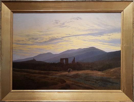 Caspar David Friedrich (1774-1840): Ruine Eldena im Riesengebirge, um 1830/34, Öl auf Leinwand