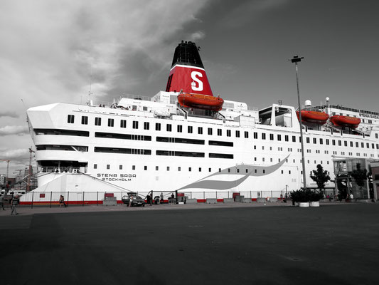 Die STENA SAGA am Pier, bereit zur Abfahrt nach Frederikshavn/Dänemark