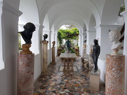 Villa San Michele mit einer wertvollen Kunstsammlung, die Axel Munthe von seinen zahlreichen Reisen mitgebracht hat.