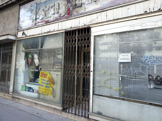 Heruntergekommene Gegend in der Lassallestraße
