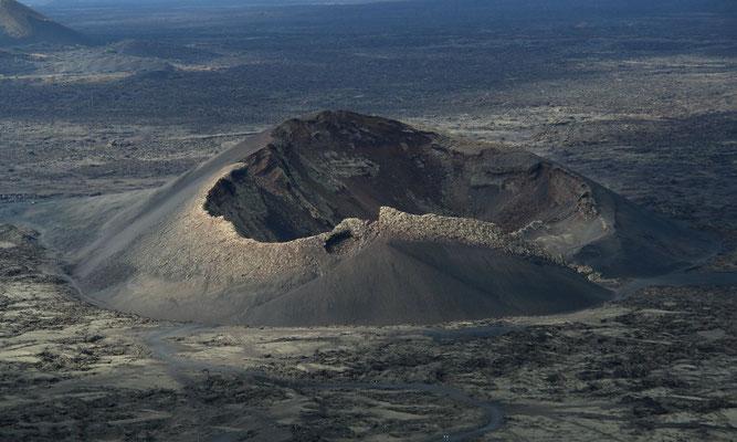 Volcán del Cuervo westlich von Masdache, Blick von der Montaña Negra