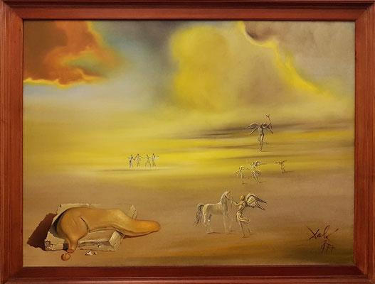 Salvador Dalì (1904-1989): Soft Monster in Angelic Landscape, 1977, Öl auf Leinwand